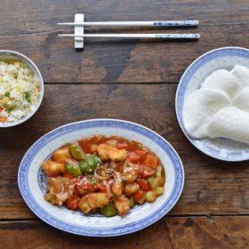 Plats chinois à domicile Poulet aigre doux